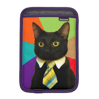 business cat - black cat iPad mini sleeve