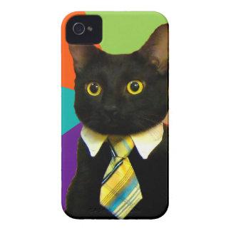 business cat - black cat iPhone 4 Case-Mate case