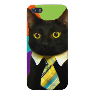 business cat - black cat iPhone 5/5S cover