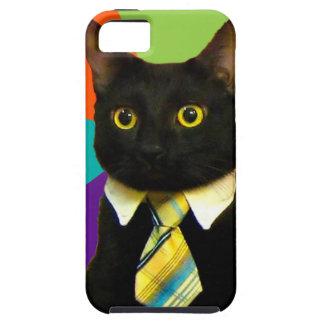 business cat - black cat iPhone 5 cases