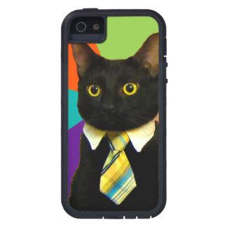 business cat - black cat iPhone 5 cover