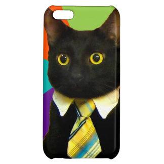 business cat - black cat iPhone 5C cover
