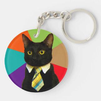 business cat - black cat key ring