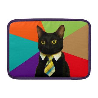 business cat - black cat MacBook sleeve