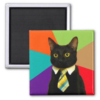 business cat - black cat magnet