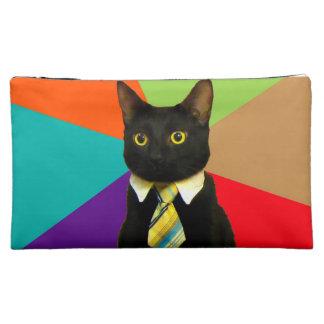 business cat - black cat makeup bag