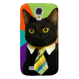 business cat - black cat samsung galaxy s4 cover