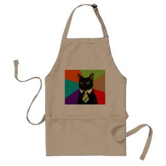 business cat - black cat standard apron