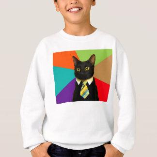 business cat - black cat sweatshirt
