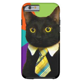 business cat - black cat tough iPhone 6 case