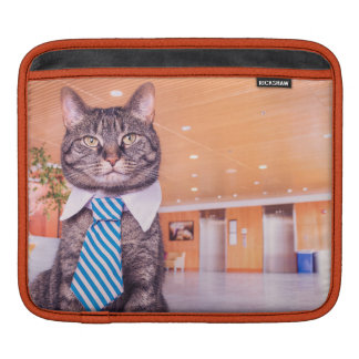 Business Cat Ipad cover iPad Sleeve