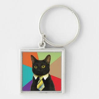 Business Cat keychain