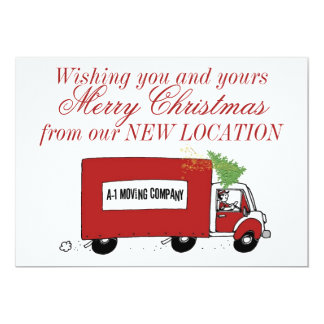 Business Christmas New Address We have moved 13 Cm X 18 Cm Invitation Card
