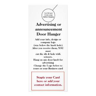 Business Company Door Hanger Brochure Flyer Hanger Rack Card