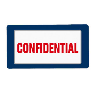 Business CONFIDENTIAL Label (Large) Shipping Label