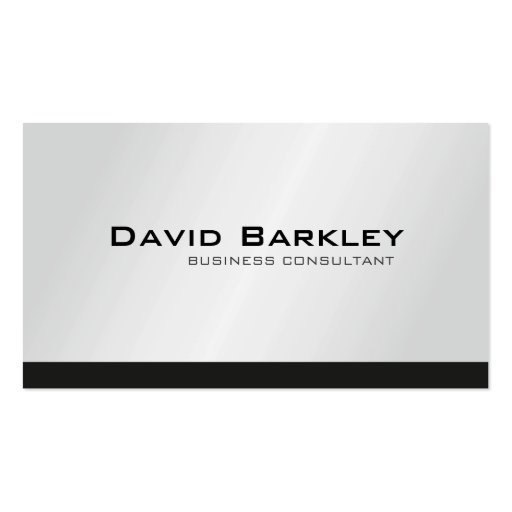 Business Consultant - Business Cards