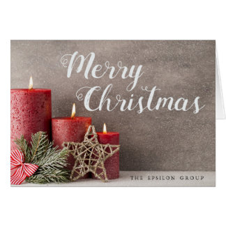 Business Corporate Candles Merry Christmas Card
