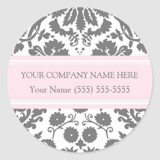 Business Custom Company Name Stickers Grey