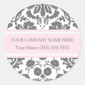 Business Custom Company Name Stickers Grey