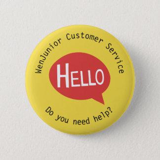 Business Customer Service Hello Help Yellow Custom 6 Cm Round Badge