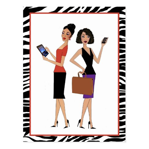 """Business Divas"" Post Card"