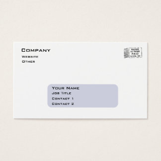 Business Envelope Business Card