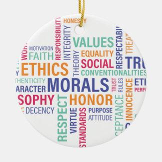 """""""Business Ethics"""" Ceramic Ornament"""