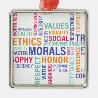 """Business Ethics"" Metal Ornament"
