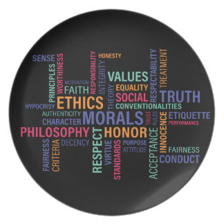 """Business Ethics"" Plate"