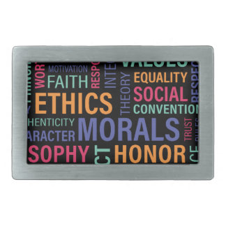 """Business Ethics"" Rectangular Belt Buckle"