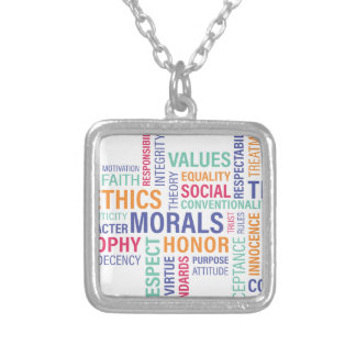 """Business Ethics"" Silver Plated Necklace"