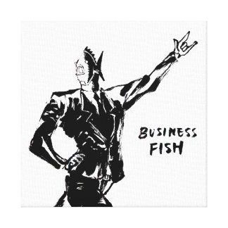 Business Fish Ink painting (Version ZEN) Gallery Wrapped Canvas