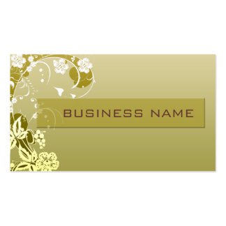 business_floral Double-Sided standard business cards (Pack of 100)