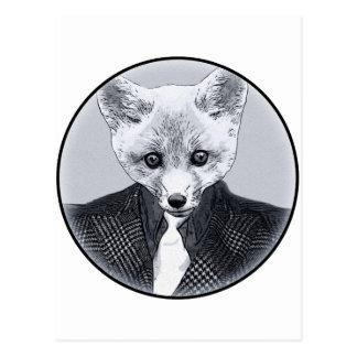 business Fox Postcard