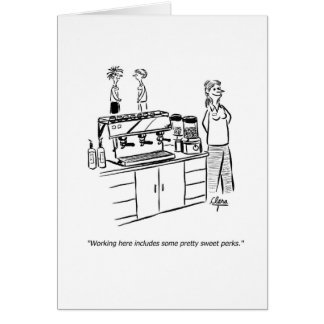 Business funny coffee greeting card