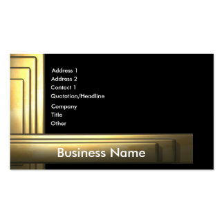business_gold business card