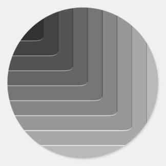 Business gray monochrome round sticker