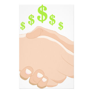 Business Handshake Cartoon Stationery