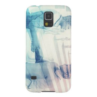Business Handshake on Digital Technology Galaxy S5 Covers