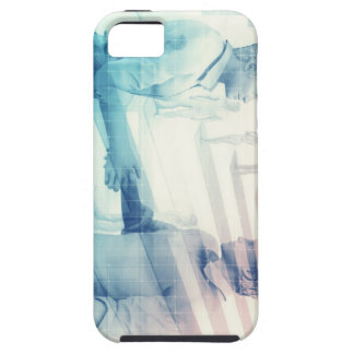 Business Handshake on Digital Technology iPhone 5 Cases
