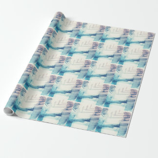 Business Handshake on Digital Technology Wrapping Paper