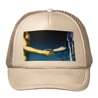 Business Integration Network with Hands Shaking Ab Cap