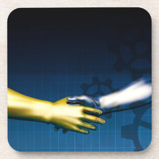 Business Integration Network with Hands Shaking Ab Coaster