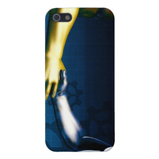 Business Integration Network with Hands Shaking iPhone 5 Cases