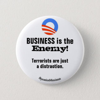 BUSINESS is the ENEMY! 6 Cm Round Badge