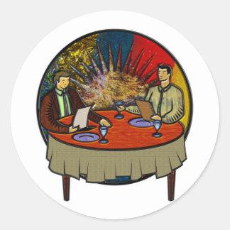 Business Lunch Round Sticker