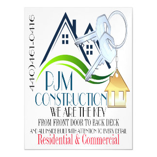 Business Magnet - Construction / Real Estate Magnetic Invitations