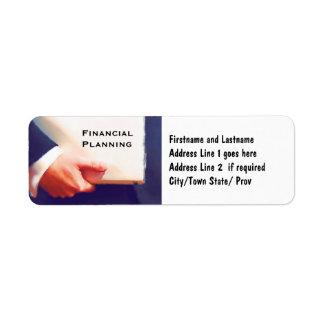 Business Man Holding Laptop or Planner Return Address Label