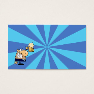 Business Man Toast Business Card