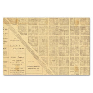 Business Map of San Francisco Tissue Paper